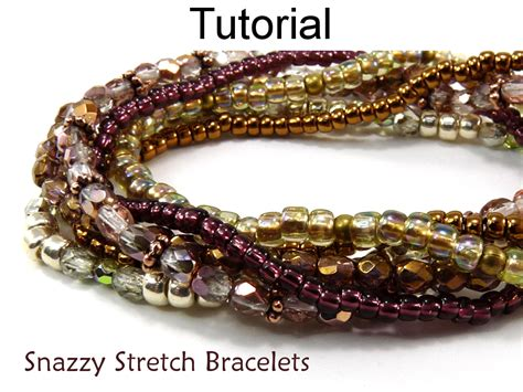 how to make a stretch bracelet with beading pattern tutorial stretch bracelets simple bead