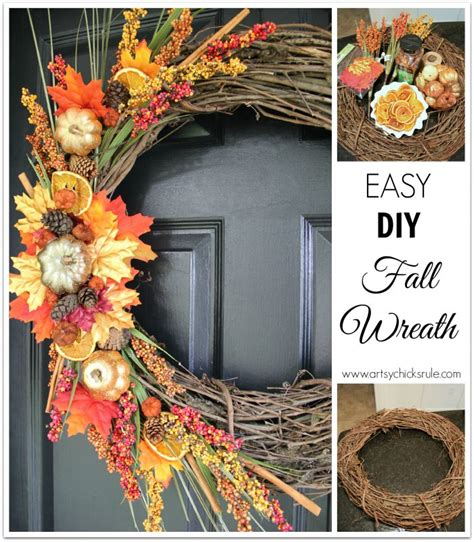 fall themed crafts for diy fall wreath fall themed tour artsy rule 174