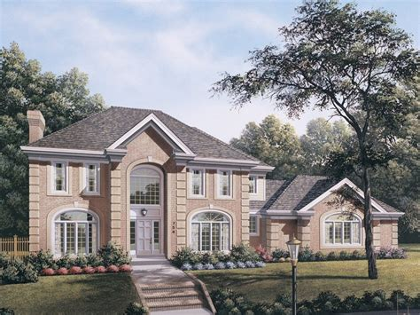 Two Story House Plans With Master On Second Floor whitmoor colonial house plan alp 09f9 chatham design