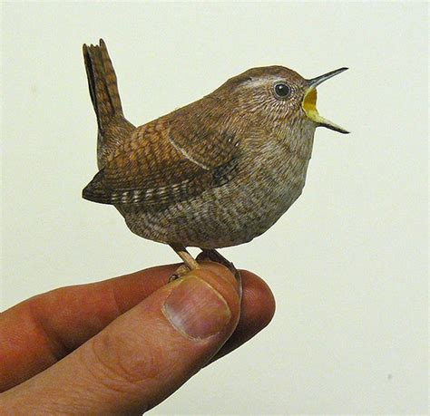 paper craft bird you sure they re not real realistic papercraft birds