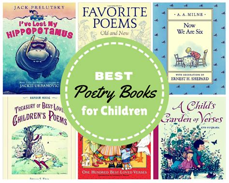 poetry picture books best poetry books for children