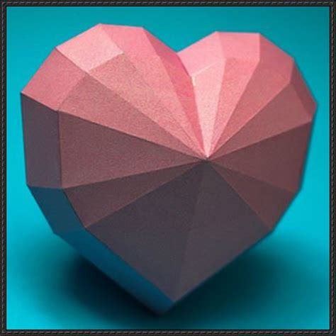 paper craft hearts papercraftsquare new paper craft shape free