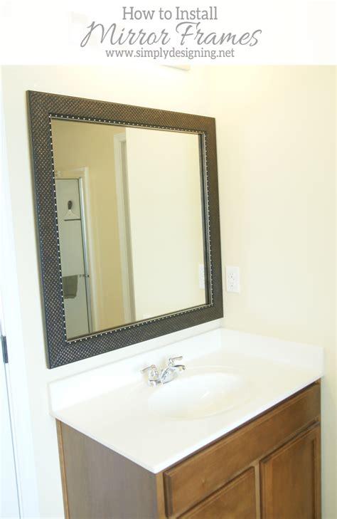 install bathroom mirror how to install a bathroom mirror frame the