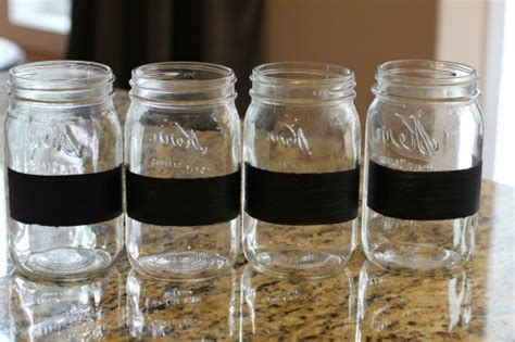 chalk paint on jars easy crafts chalkboard paint jars for back to