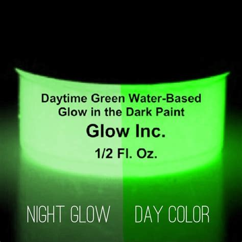 glow in the paint mixed with water daytime green water based paint glow inc
