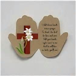 easter bible crafts for handprint easter prayer
