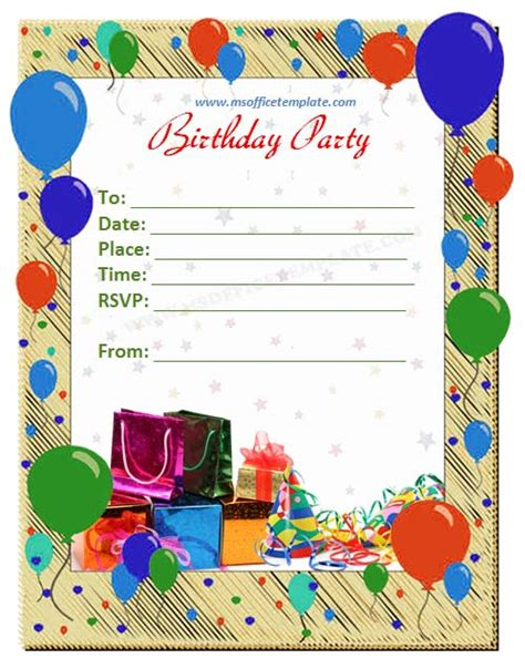 how to make a invitation card on microsoft word microsoft office templatesbirthday invitation card