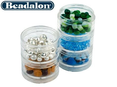 bead storage containers beadalon medium bead storage stackable containers five per