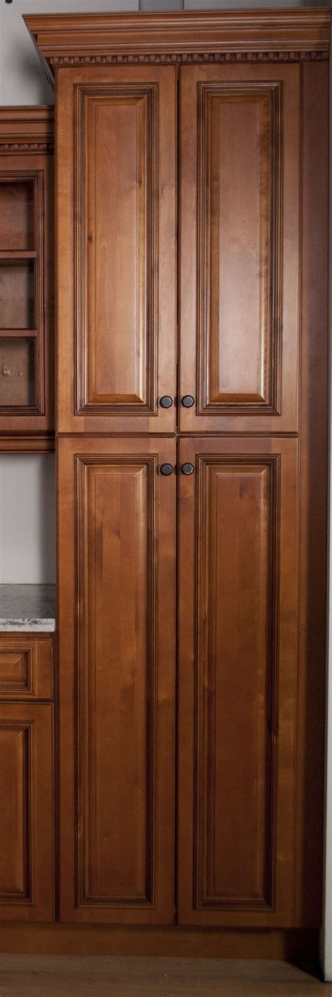 single door pantry cabinet high light brown wooden pantry cabinet with many shelves