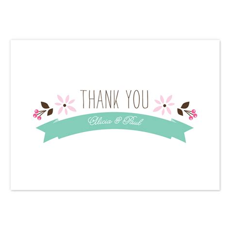 thank you card thank you card beautiful floral thank you cards folk