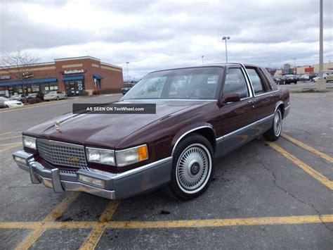 1990 Cadillac Sedan by Low Mileage Pristine 1990 Cadillac Sedan De Ville