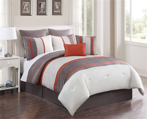 orange comforter sets king 8 aruba orange taupe comforter set