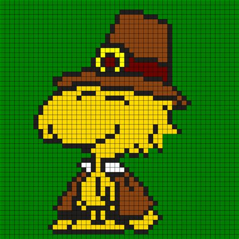 perler bead turkey pattern thanksgiving pilgrim woodstock perler bead pattern bead