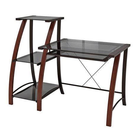 z line computer desk z line designs triana wood and glass desk with matching