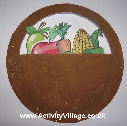 harvest craft ideas for paper plate harvest basket