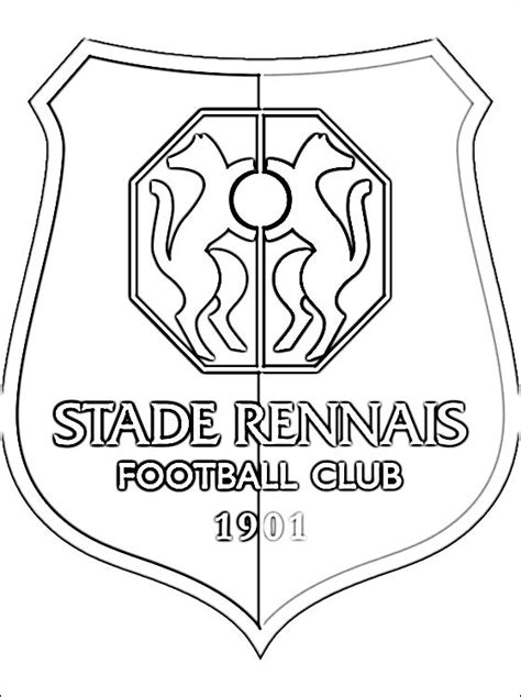 le logo de stade rennais football club coloriage 224