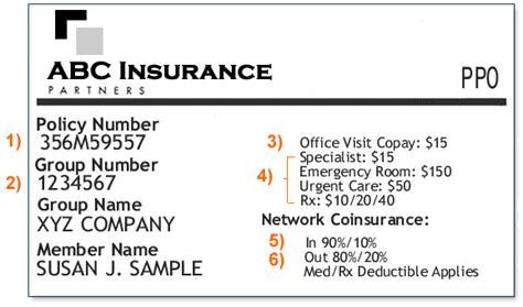 how to make a health insurance card sle insurance card providence oregon