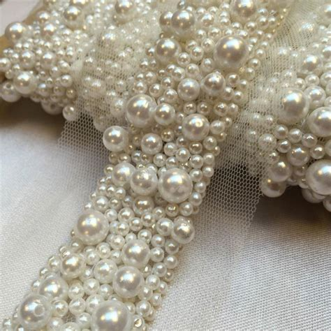beaded trimmings uk multi pearl beaded trim