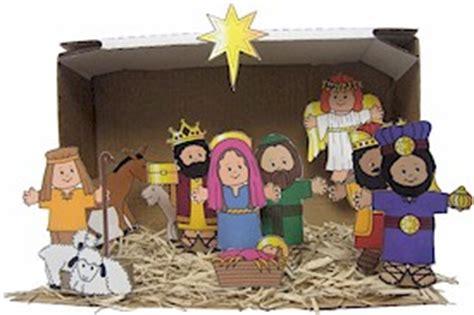 nativity paper craft paper doll friends nativity