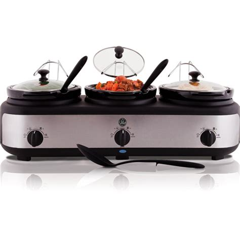 3 crock pot buffet ge 3 crock electric cooker buffet walmart