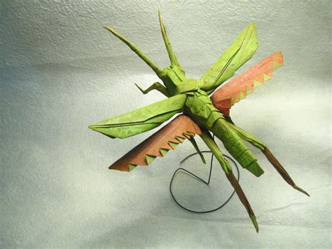 origami grasshopper smile origami creatures amazing expertise and talent