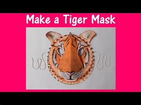how to make arts and crafts out of paper arts and crafts how to make a tiger mask