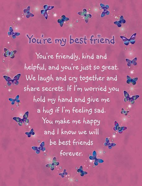 how to make a bff card card you re my best friend you re friendly