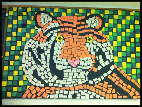 paper mosaic crafts paper mosaic project lessons tes teach