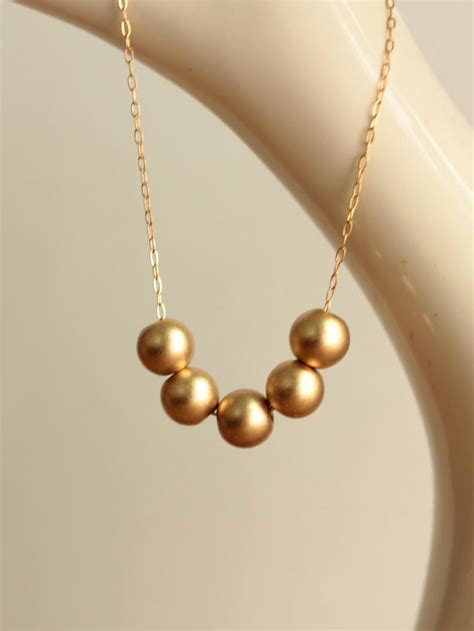 how to make gold filled jewelry gold bead necklace 14kt gold filled a common thread