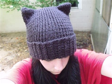 cat beanie knitting pattern knitted cat hat 183 how to make an animal hat 183 knitting on