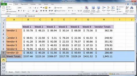 how to insert excel 2010 insert rows and columns