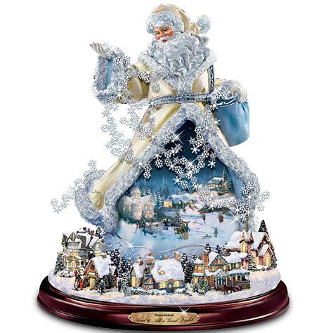 moving santa claus kinkade moving santa claus tabletop figurine and