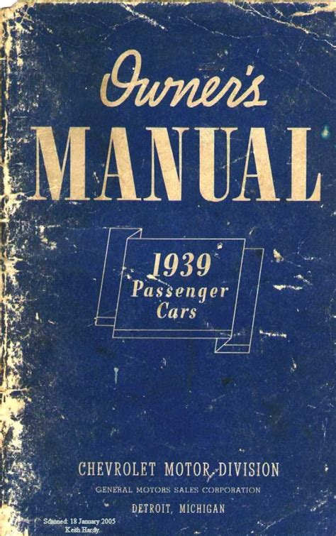 1939 chevy owner s manual