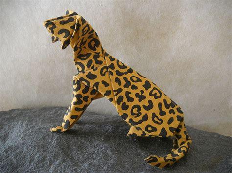 origami cheetah leopard cat this is hideo komatsu s cat design i found