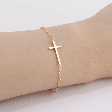 sideways cross charms for jewelry 1pcs b009 fashion horizontal sideways cross bracelet