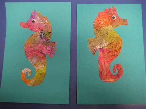seahorse crafts for creative tots preschool