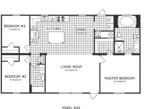 3 floor plan 3 bedroom floor plan c 8103 hawks homes manufactured