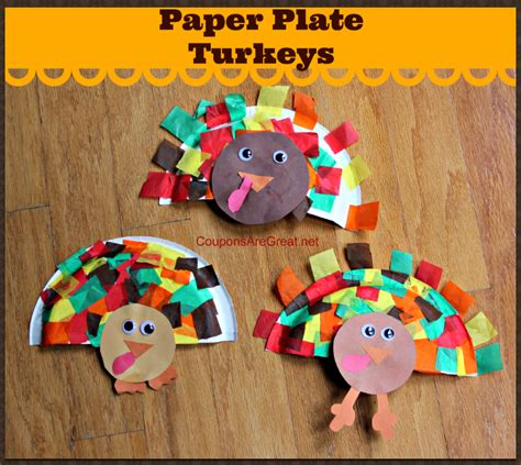 turkey paper craft turkey crafts for with paper plates