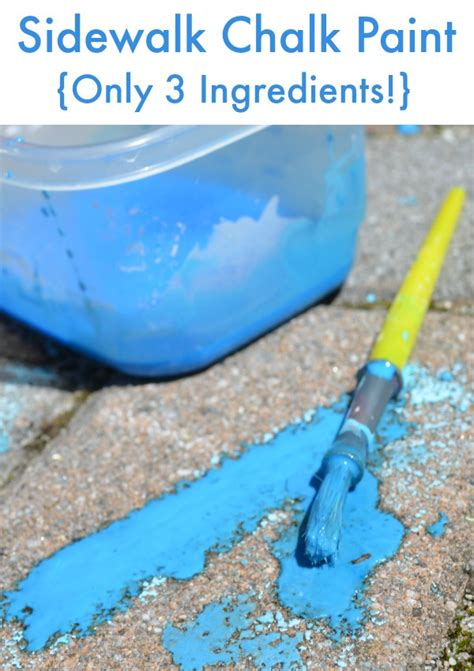 diy chalk paint watery how to make sidewalk chalk paint simple play ideas