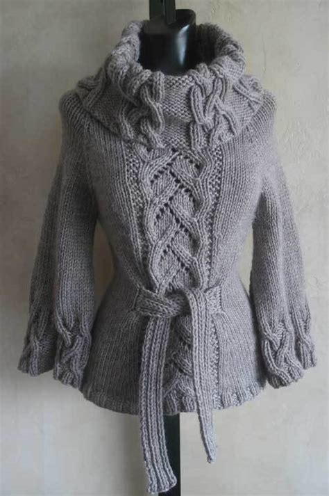 knitting sweater bestselling chic cowl neck pdf knitting pattern from