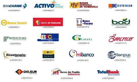 bancos en venezuela listado de c 243 digos de bancos en venezuela 2017