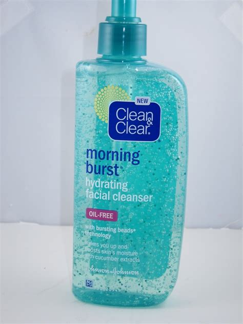 bursting clean and clear clean clear morning burst hydrating cleanser
