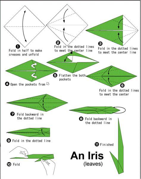 iris origami paper folding flower vidyapeethindia