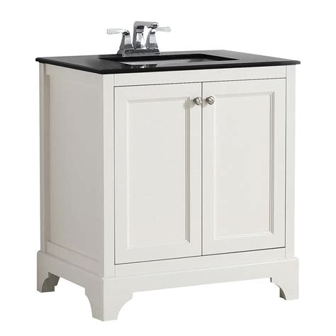 birch bathroom vanity shop simpli home cambridge soft white undermount single