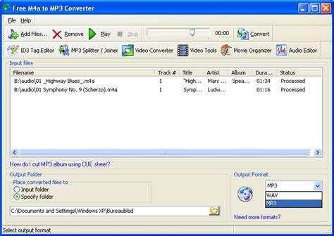 mp3 converter m4a to mp3 converter free