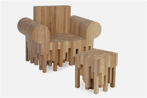 woodworking with ash furniture made of pieces of ash wood end pieces