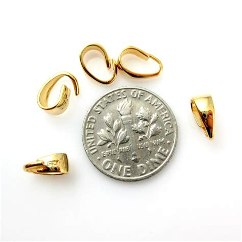beading and jewelry supplies wholesale gold plated sterling silver classic smooth bail