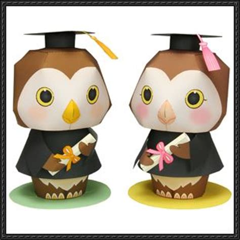 canon paper crafts canon papercraft graduation message doll free template