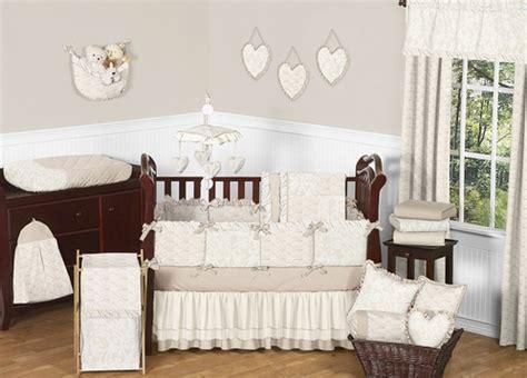 ivory baby crib chagne and ivory baby bedding 9pc crib set