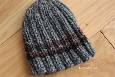 knit hat pattern size 10 needles everyday s knit beanie hooks and needles